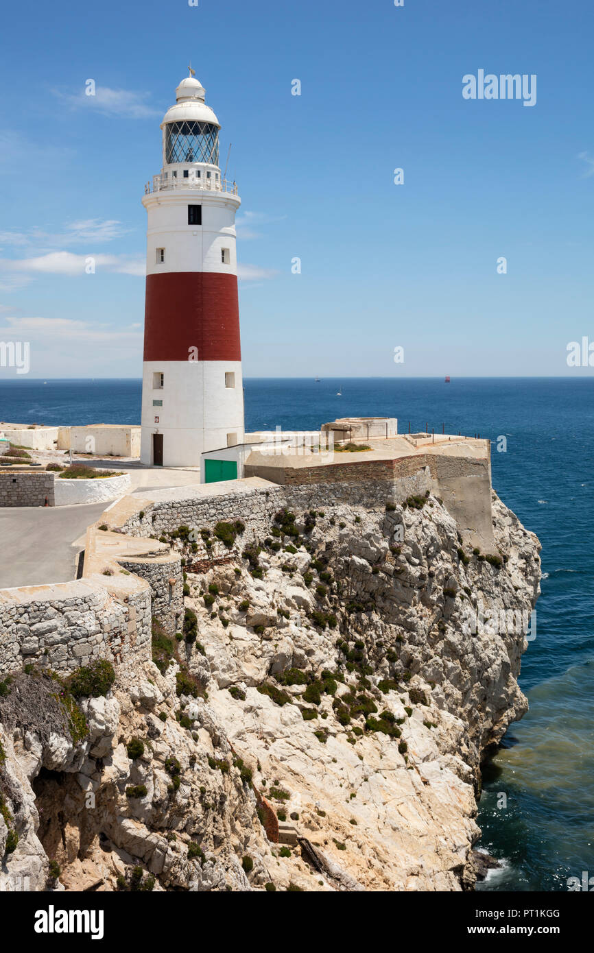 Gibraltar, lighthouse at Europa Point - Stock Image