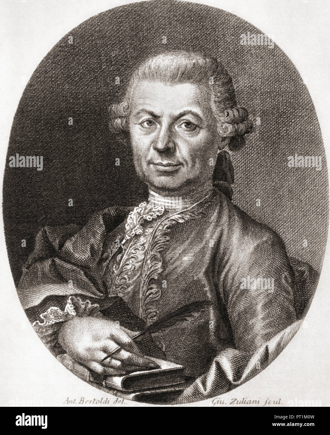 Carlo, Count Gozzi, 1720 – 1806.  Italian playwright and defender of Commedia dell'Arte. - Stock Image