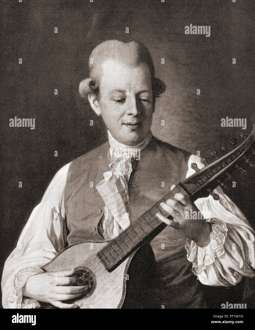Carl Michael Bellman, 1740 – 1795.  Swedish songwriter, composer, musician, poet and entertainer. - Stock Image