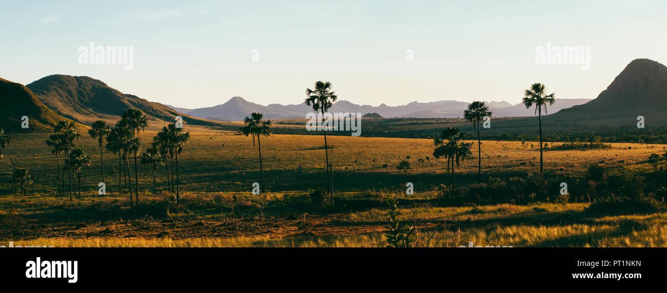 Brazil, Alto Paraiso de Goias, Landscape at dawn - Stock Image