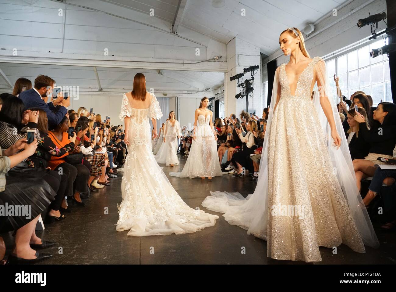 New York Usa 5th Oct 2018 Models Present Creations From Berta