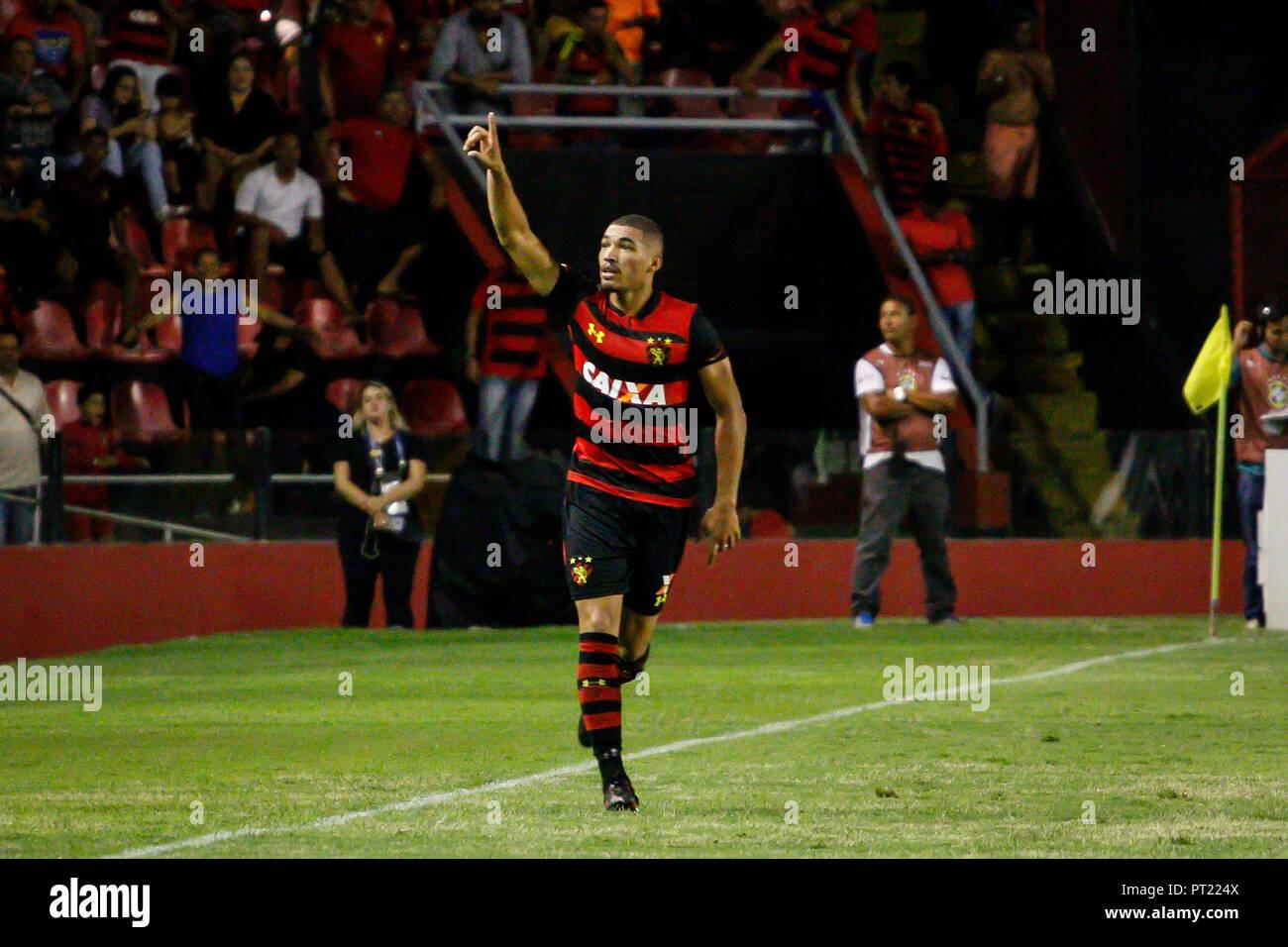 Recife Brazil 05th Oct 2018 Adryelson Sport Player Celebrating Goal During Sport X Internacional Held On