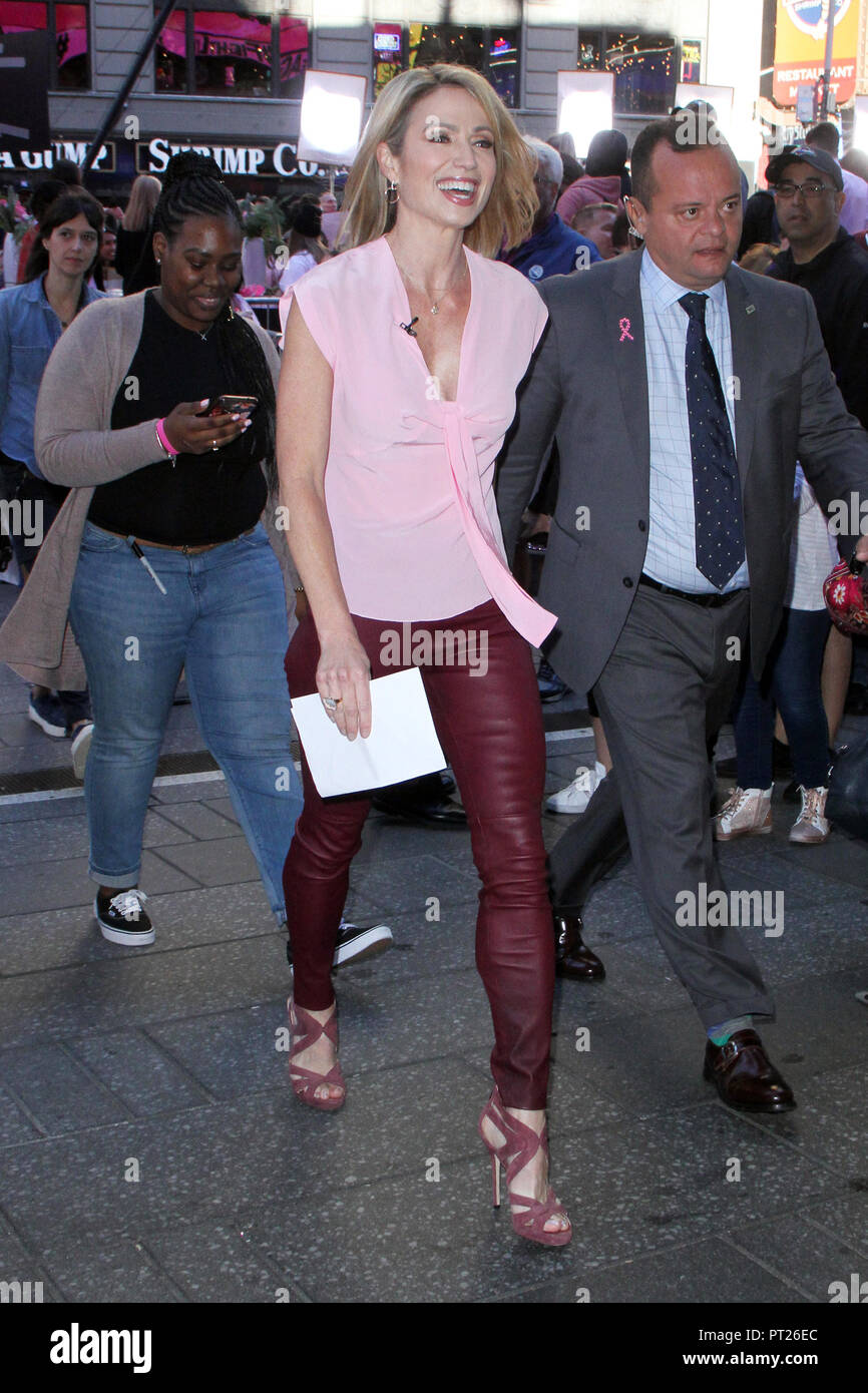 New York, USA. 5th Oct, 2018. Amy Robach on the set of Good Morning America in New York City on October 5, 2018. Credit: Rw/Media Punch/Alamy Live News Stock Photo