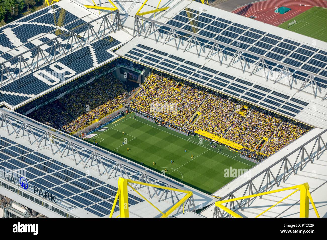 BVB vs. TSG Hoffenheim, Signal Iduna Park, BVB Stadium, Westfalenstadion, Bundesliga Stadium, Dortmund, Ruhr Area, North Rhine-Westphalia, Germany, Europe - Stock Image
