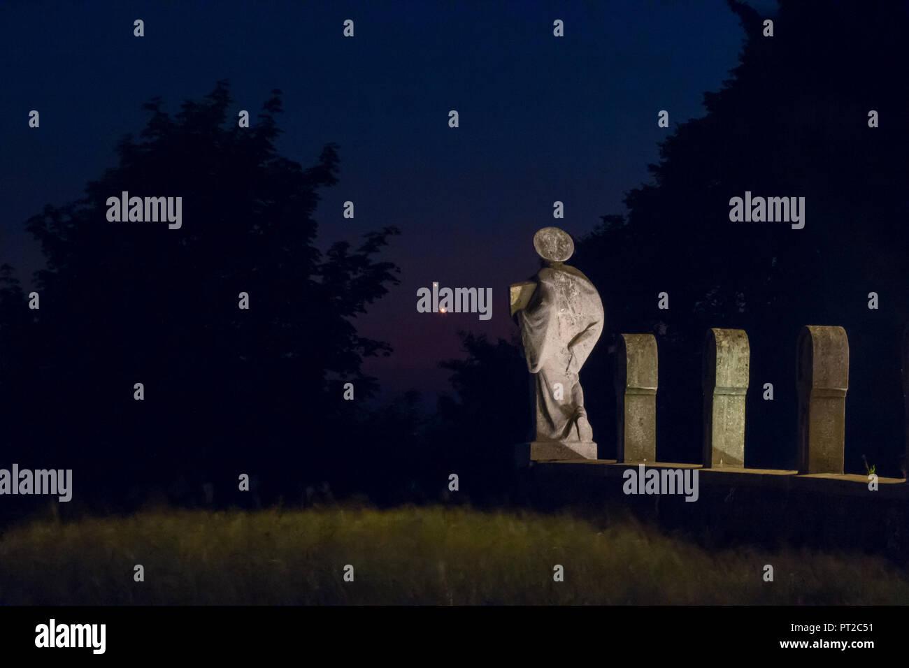 Germany Hesse Hochtaunuskreis Planets Jupiter And Venus In Front