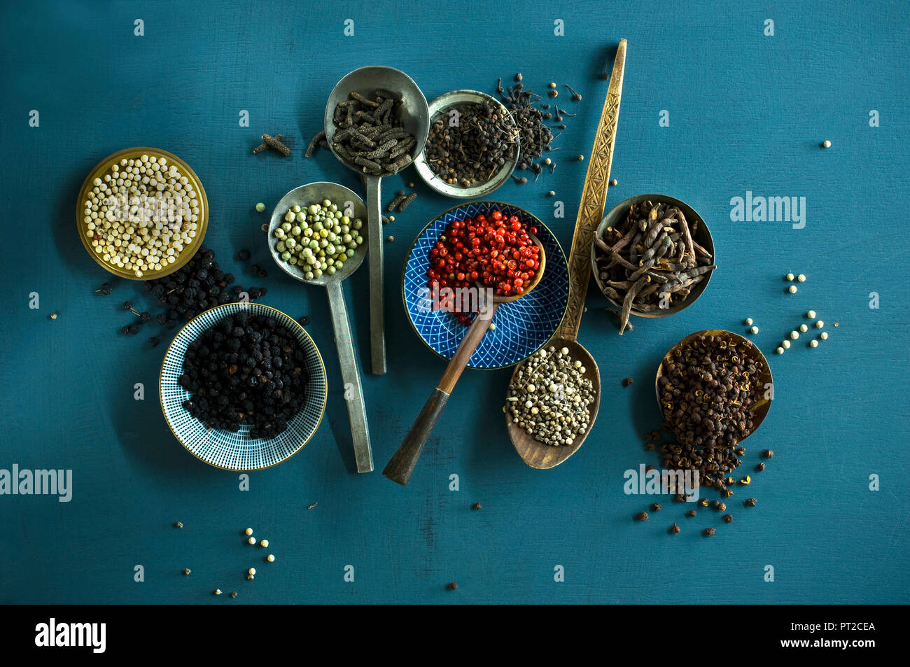 Various sorts of pepper Stock Photo