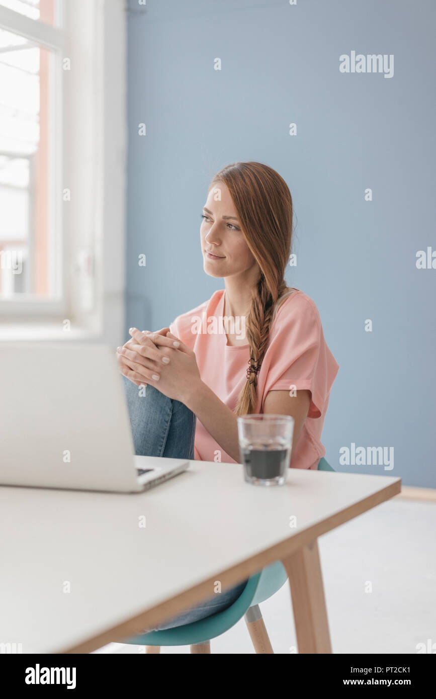 woman at home sitting at desk with laptop stock photo 221330005 alamy rh alamy com woman at home smoked salmon pate recipe woman's place is at home