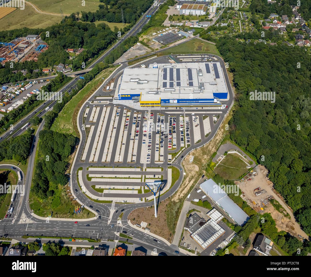 IKEA furniture store Wuppertal, city limits Sprockhövel, Ruhr area, North Rhine-Westphalia, Germany - Stock Image