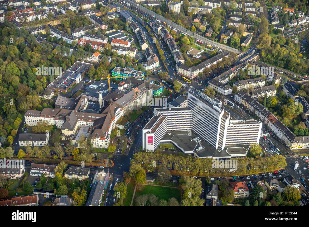 Elisabeth Hospital, Academic Teaching Hospital of the University of Duisburg-Essen, Huttrop, Social Pediatric Center, Essen, Ruhr Area, North Rhine-Westphalia, Germany - Stock Image