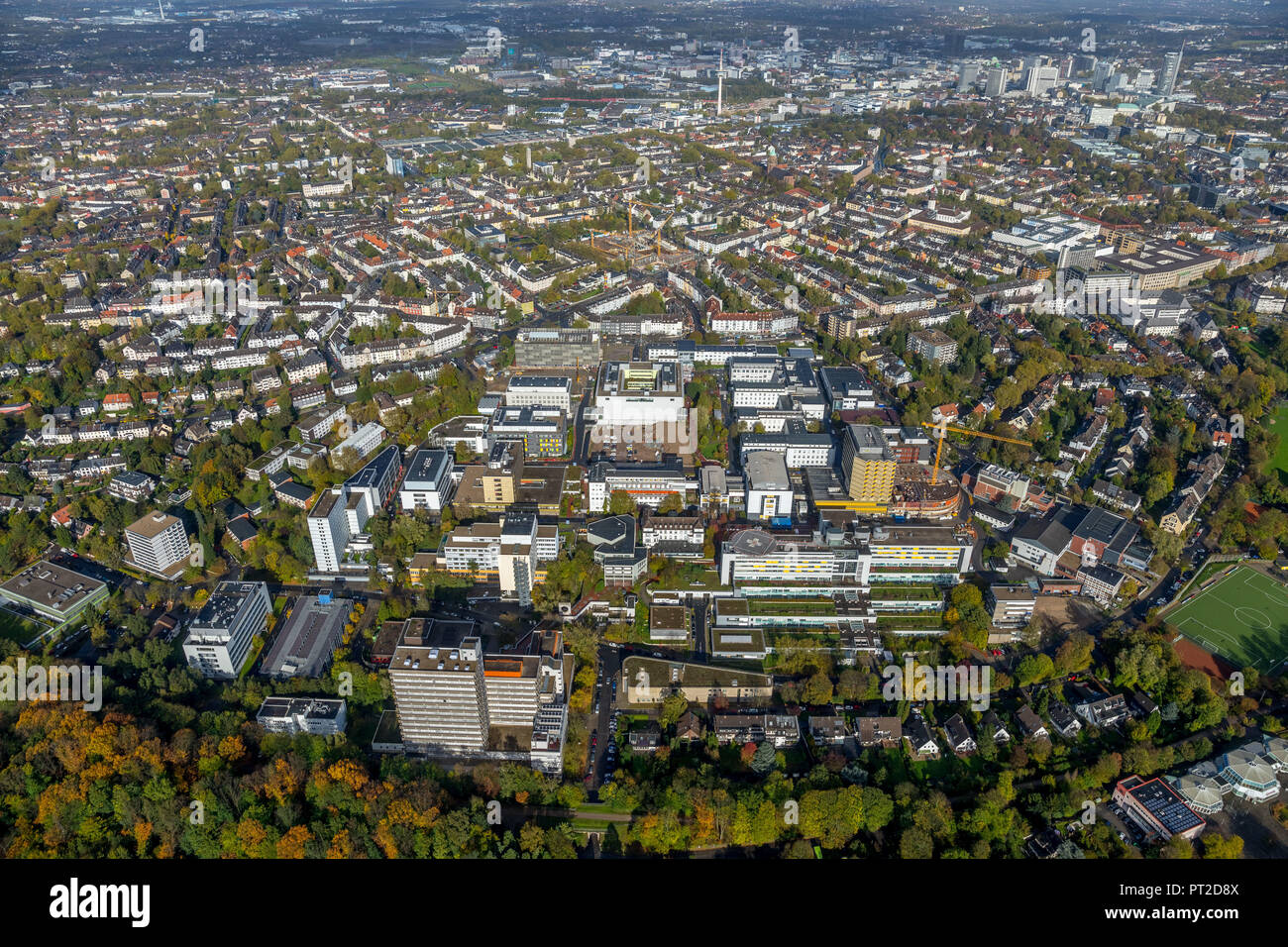 University Hospital Essen, UK Essen, University of Duisburg-Essen, Divisions Cardiovascular Diseases, Transplantation Medicine and Oncology as well as Genetic Medicine, Immunology and Infectiology, Oncological Top Center, Essen, Ruhr Area, North Rhine-Westphalia, Germany - Stock Image