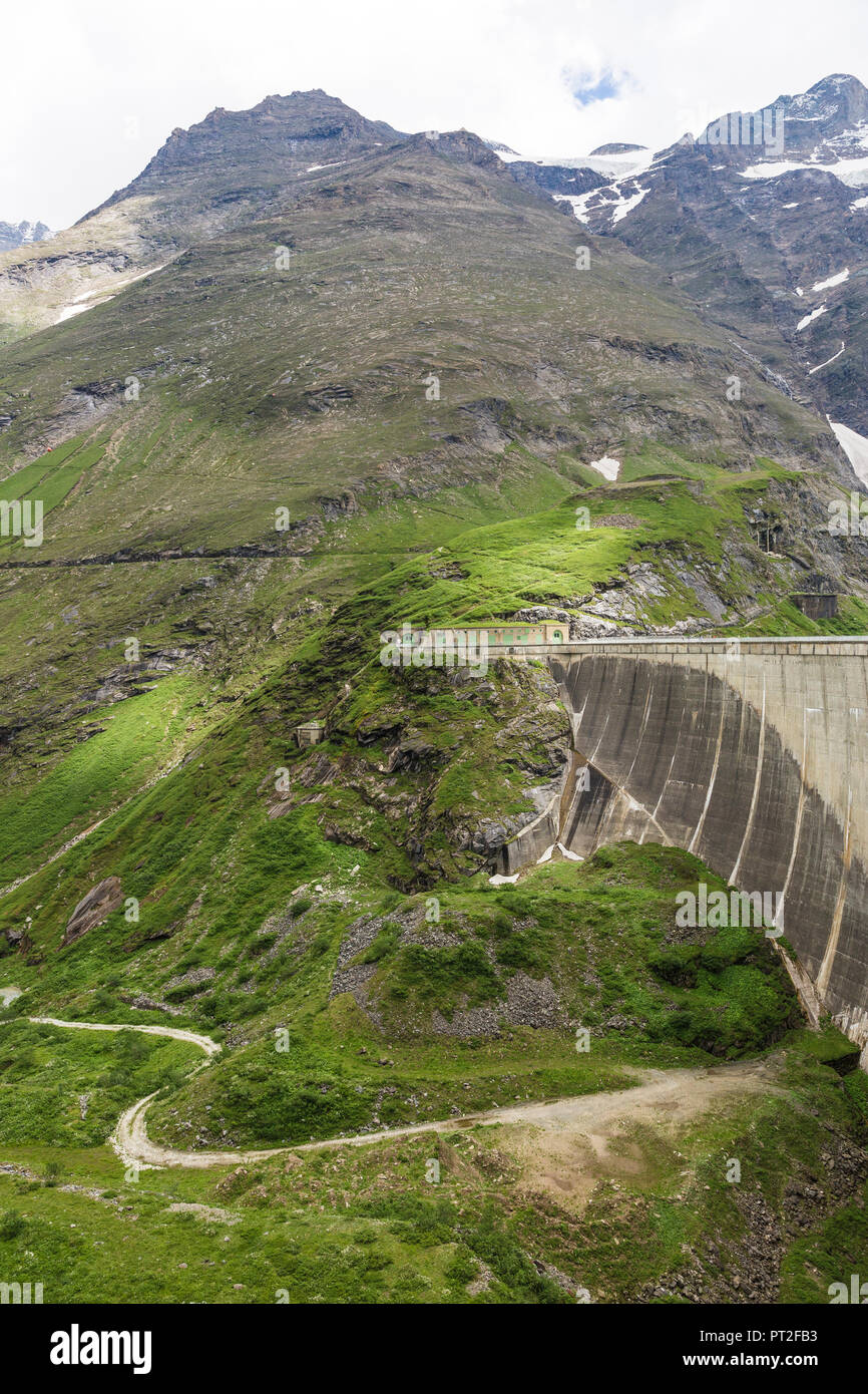 Germany, Salzburg State, Zell am See District, Mooserboden dam - Stock Image