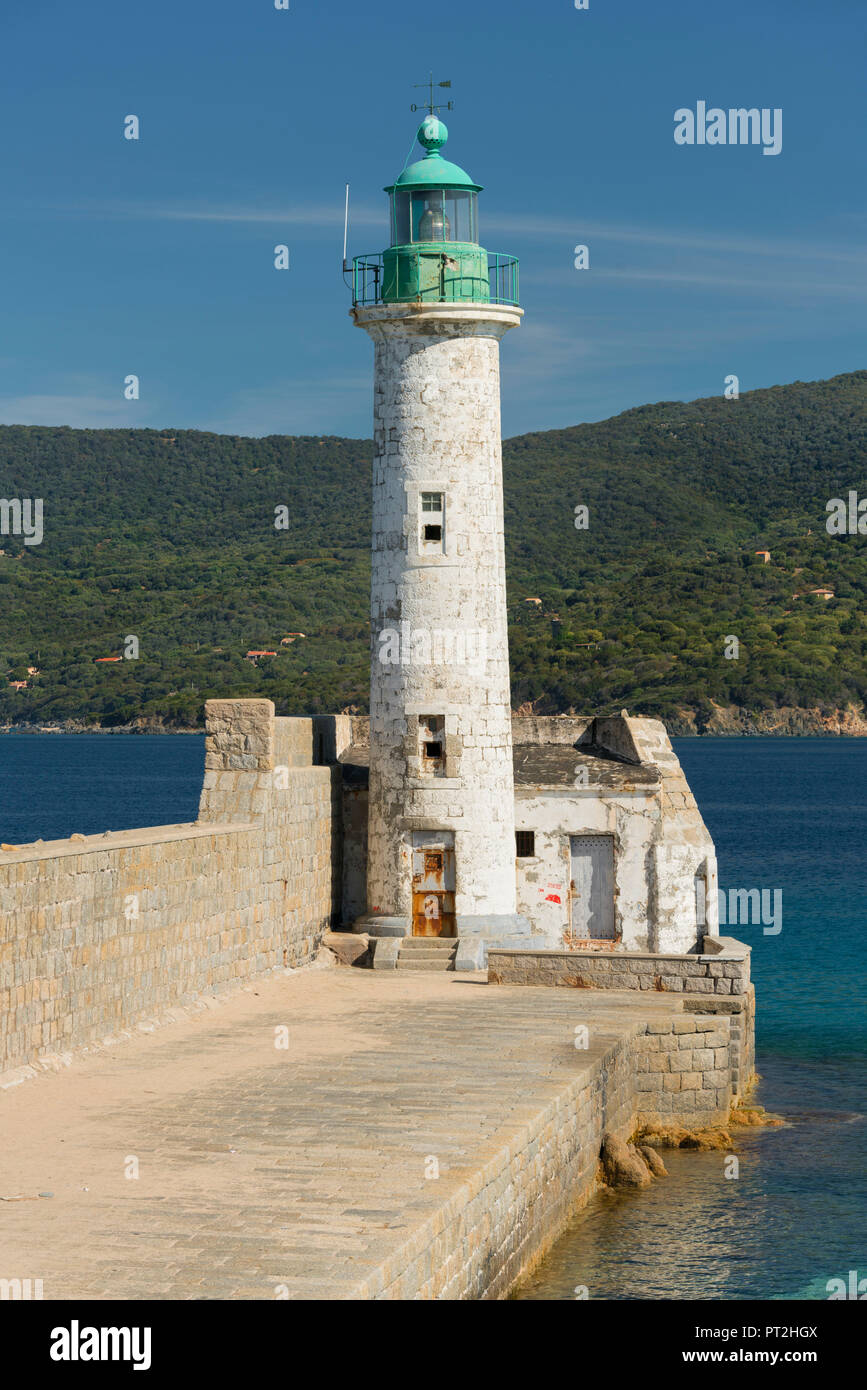 Lighthouse of Propriano, Corse du Sud, Corsica, France - Stock Image