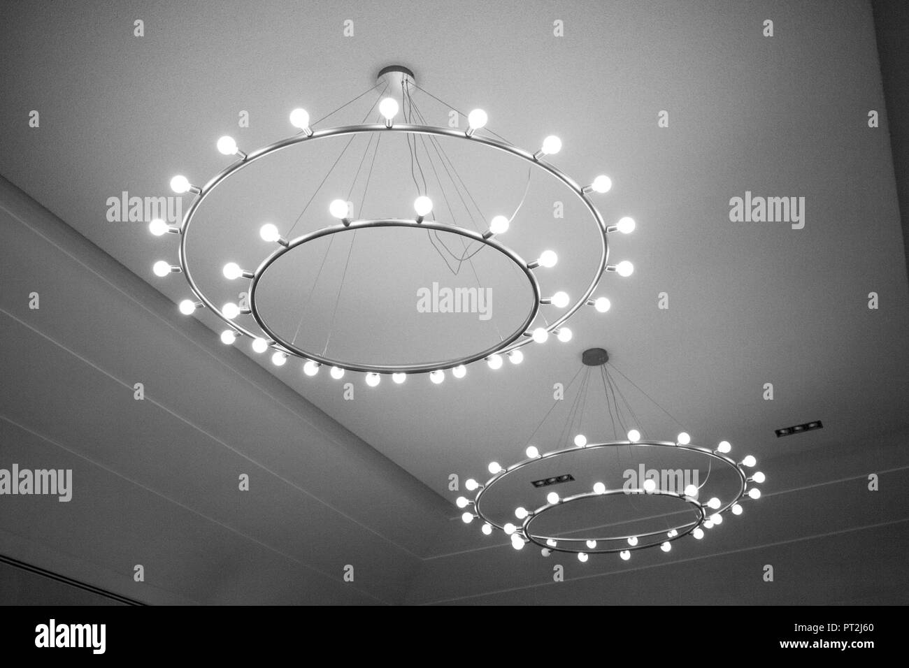 Imposing ceiling lighting - Stock Image