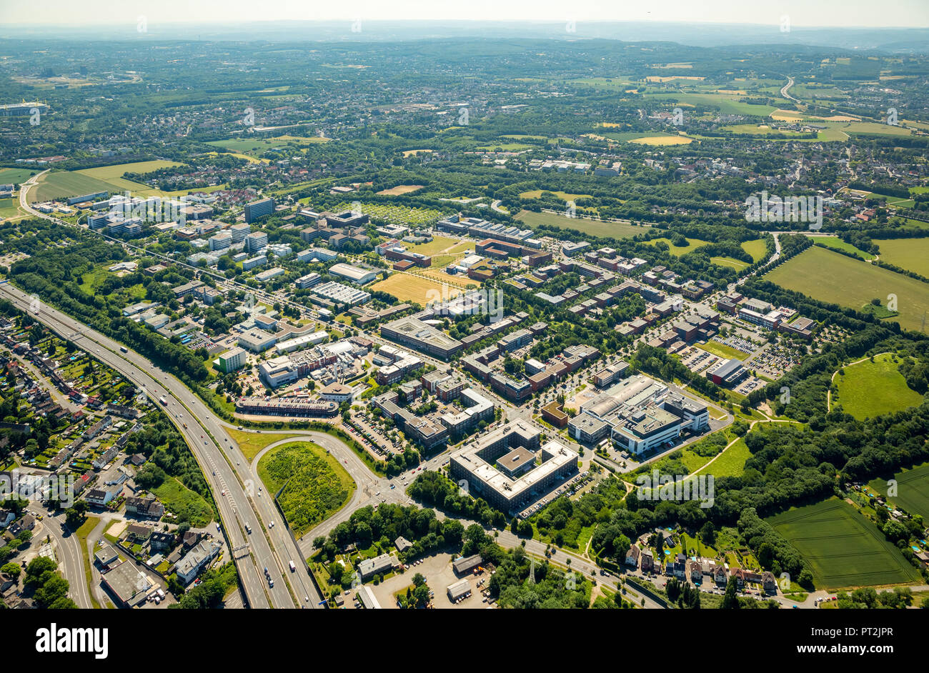 on the campus of the University of Dortmund, Ruhr area, - Stock Image
