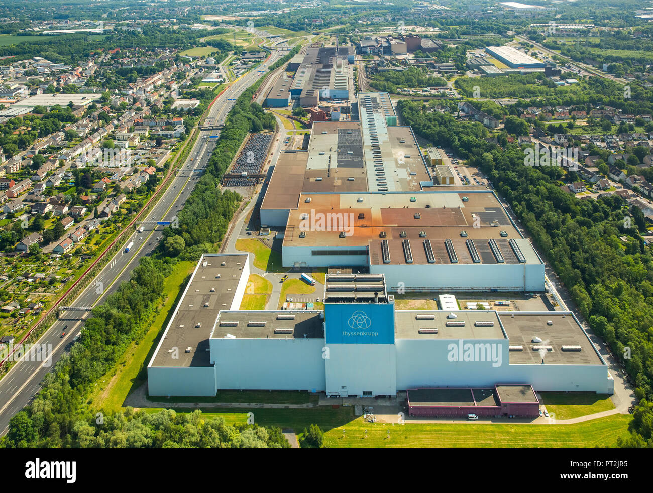 Thyssen Krupp Steel Europe AG, Bochum Plant, Steel Factory, Mining Industry, Heavy Industry, Wattenscheid, Bochum, Ruhr Area, North Rhine-Westphalia, Germany - Stock Image