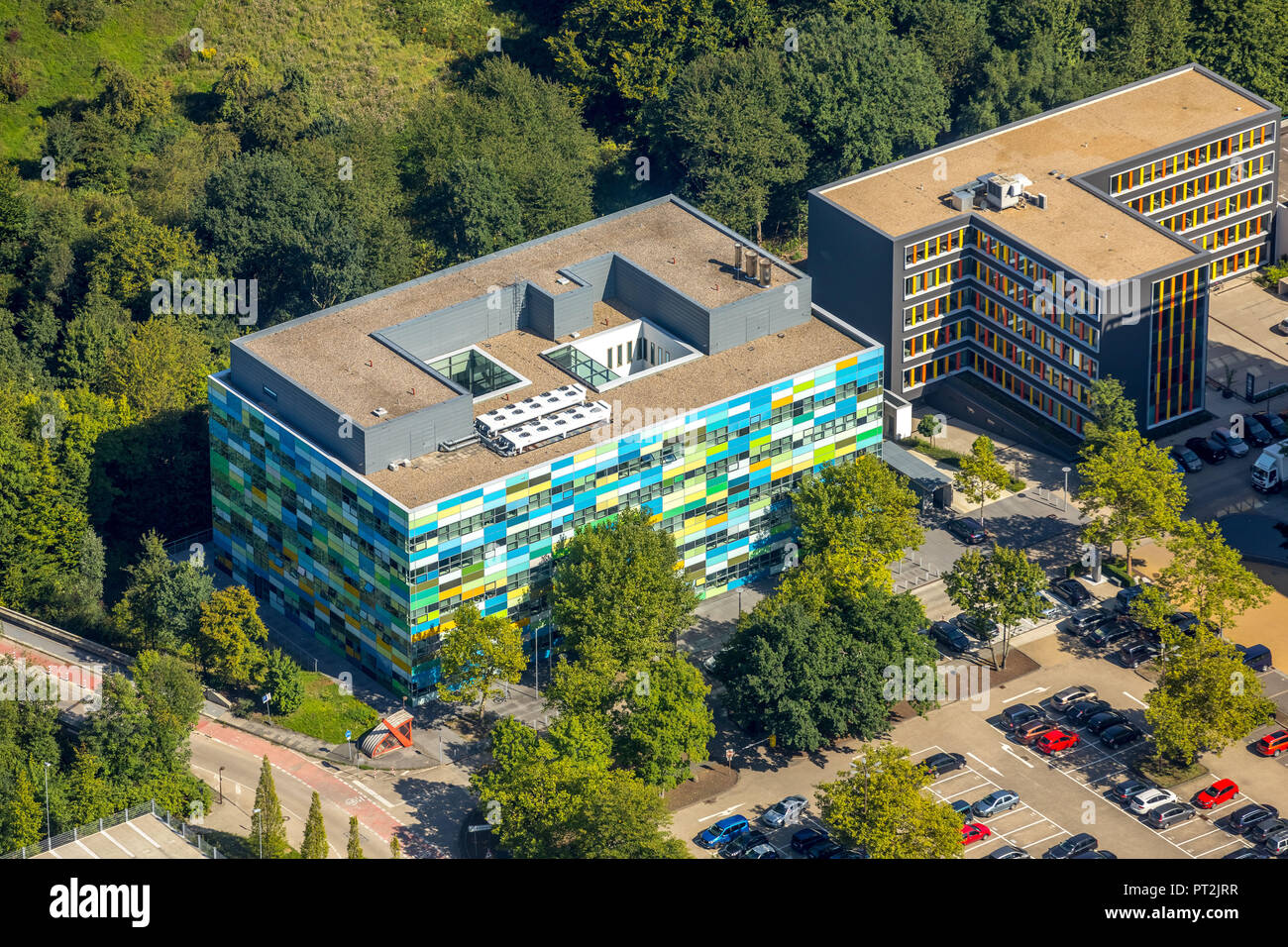 BioMedicine Center at the Ruhr University Bochum, Bochum, Ruhr Area, North Rhine-Westphalia, Germany - Stock Image