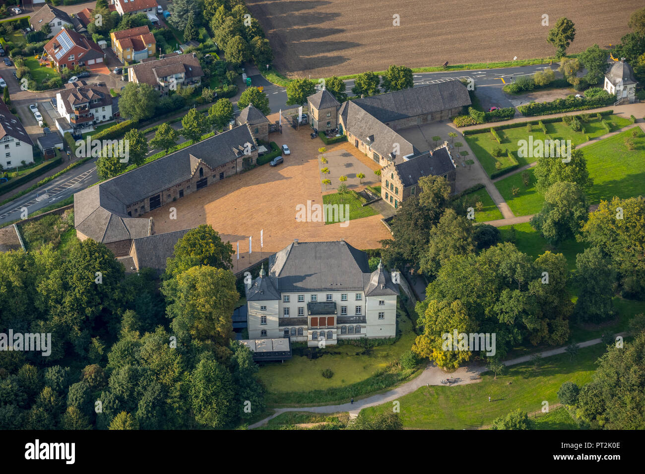 Haus Opherdicke is a moated castle and former manor in Holzwickede district Opherdicke, Frank Brabant Collection, exhibition venue, venue, Holzwickede, Ruhr area, North Rhine-Westphalia, Germany Stock Photo