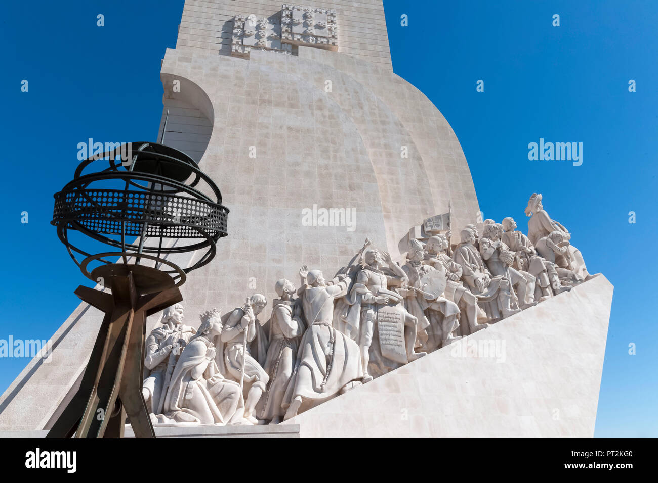 Discoverer Monument at the Tagus, Padrao dos Descobrimentos - Stock Image