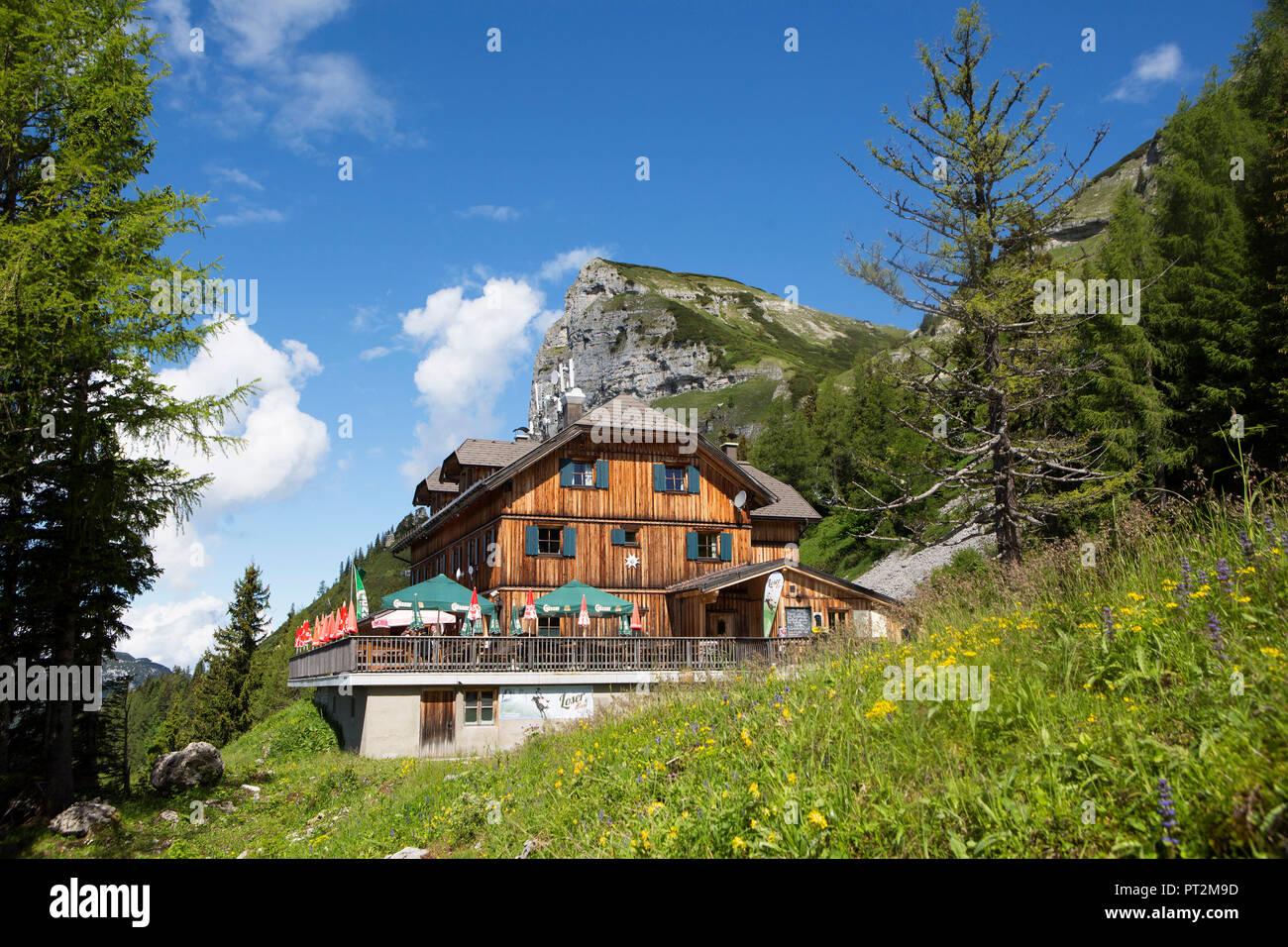 Austria, Styria, Salzkammergut, Ausseerland, Altaussee, Loserhütte, Loser Panoramastraße - Stock Image
