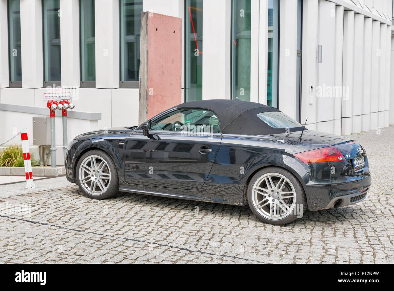Berlin Germany July 13 2018 Black Audy Tt 2 Door Sports Car