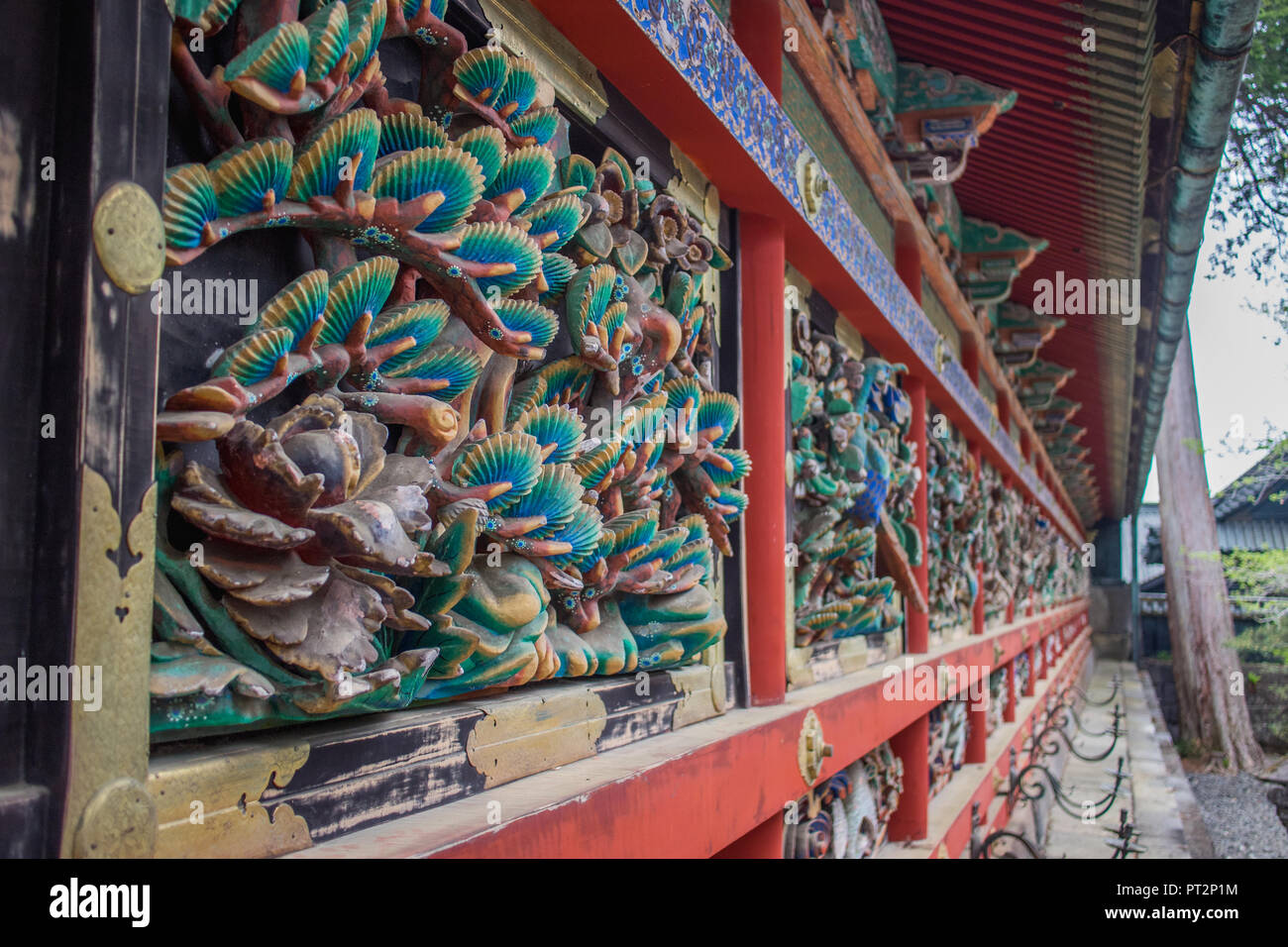 Japanese temple detail - Stock Image