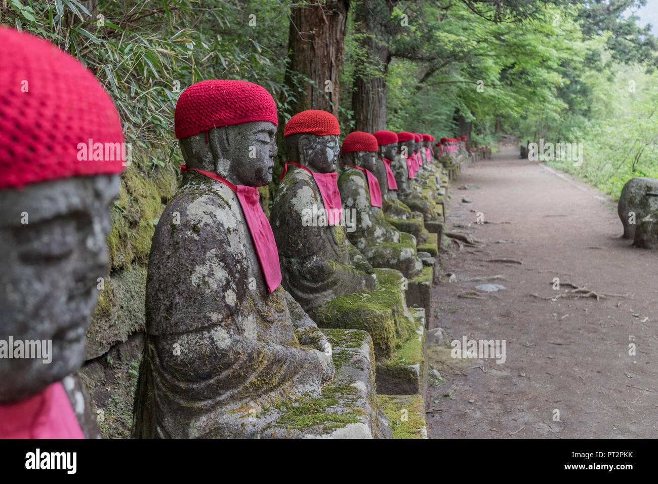 Estatuas de Jizo en Nikko, Japón - Stock Image