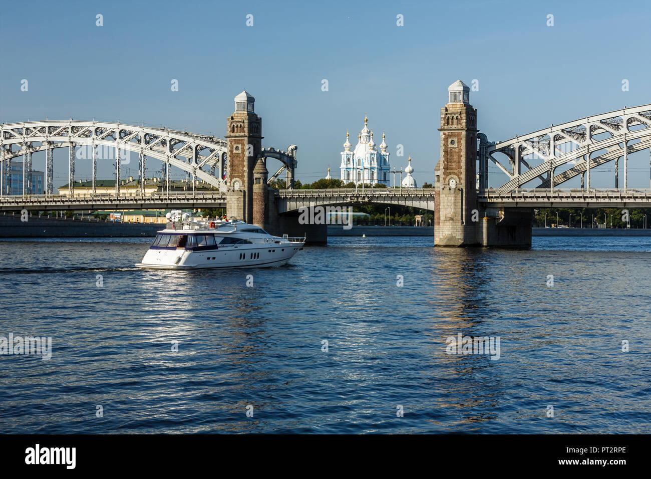 Bolsheokhtinsky Bridge in St. Petersburg: its history and photo 75