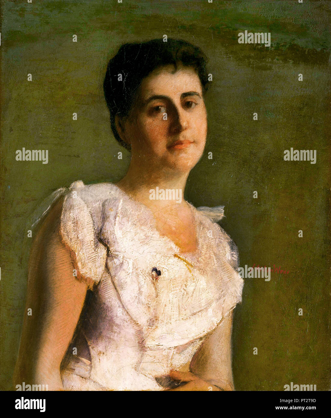 J. Alden Weir, Miss Edith Potter, Oil on canvas, The Phillips Collection, Washington, D.C., USA. - Stock Image