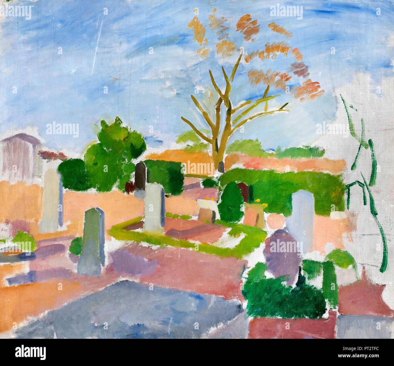 Karl Isakson, Graveyard, Christianso, Circa 1911-1913 Oil on canvas. - Stock Image