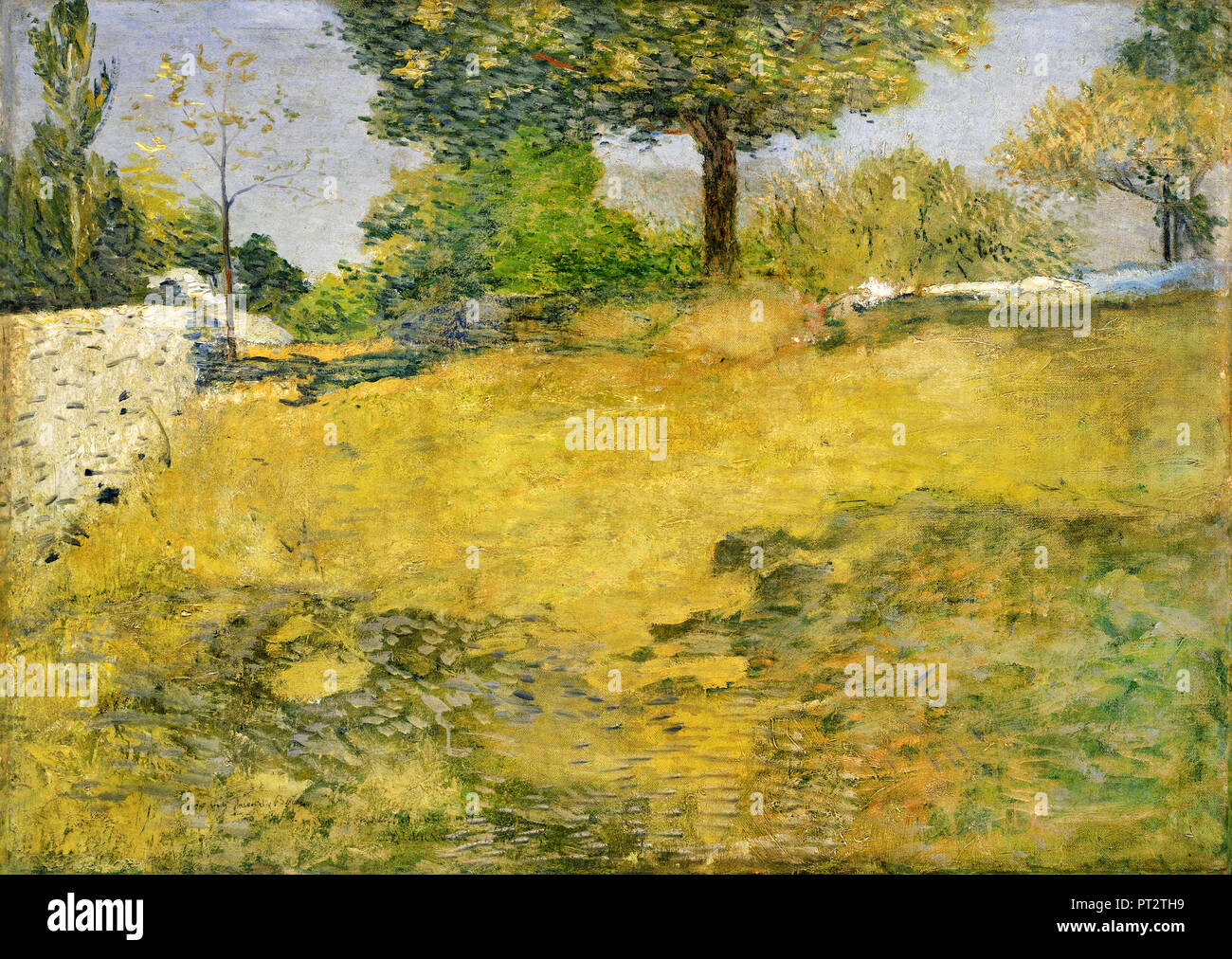 J. Alden Weir, The High Pasture, Circa 1899-1902 Oil on canvas, The Phillips Collection, Washington, D.C., USA. - Stock Image