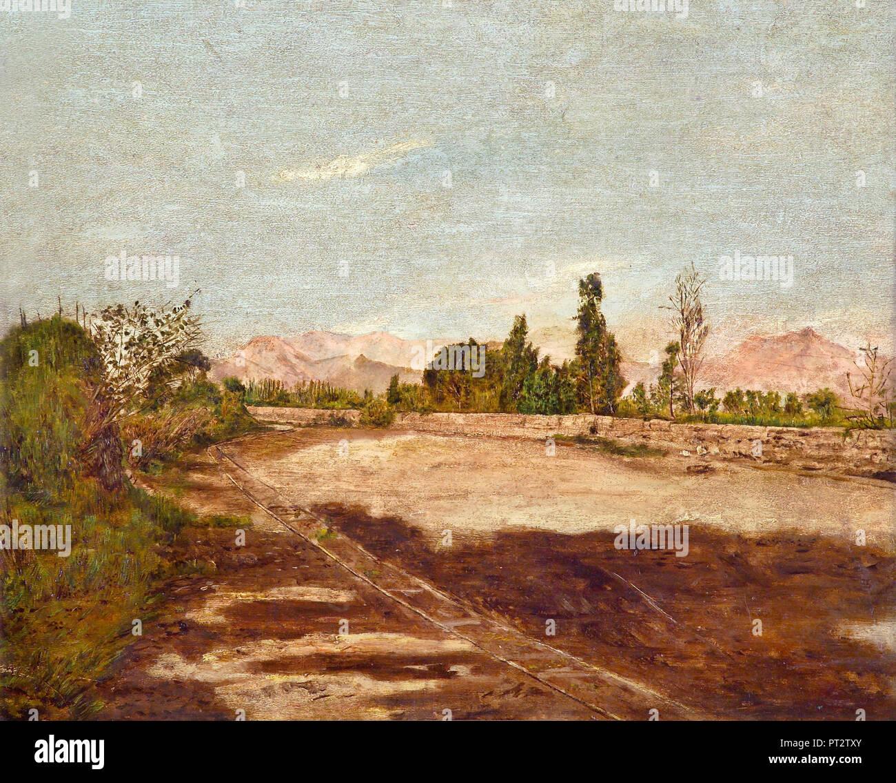 Jose Maria Eguren, Lima's Countryside, Circa 1900-1915 Oil on canvas, Lima Art Museum (MALI), Lima, Peru. - Stock Image