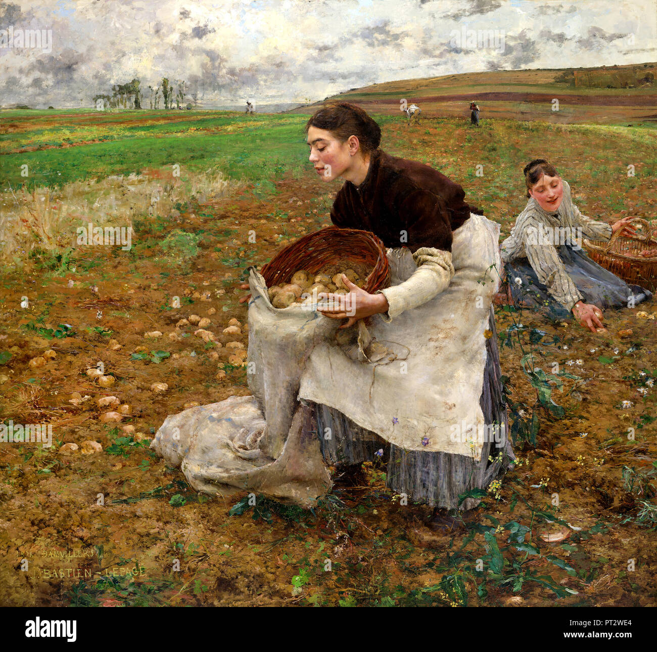 Jules Bastien-Lepage, October 1878 Oil on canvas, National Gallery of Victoria, Australia. - Stock Image