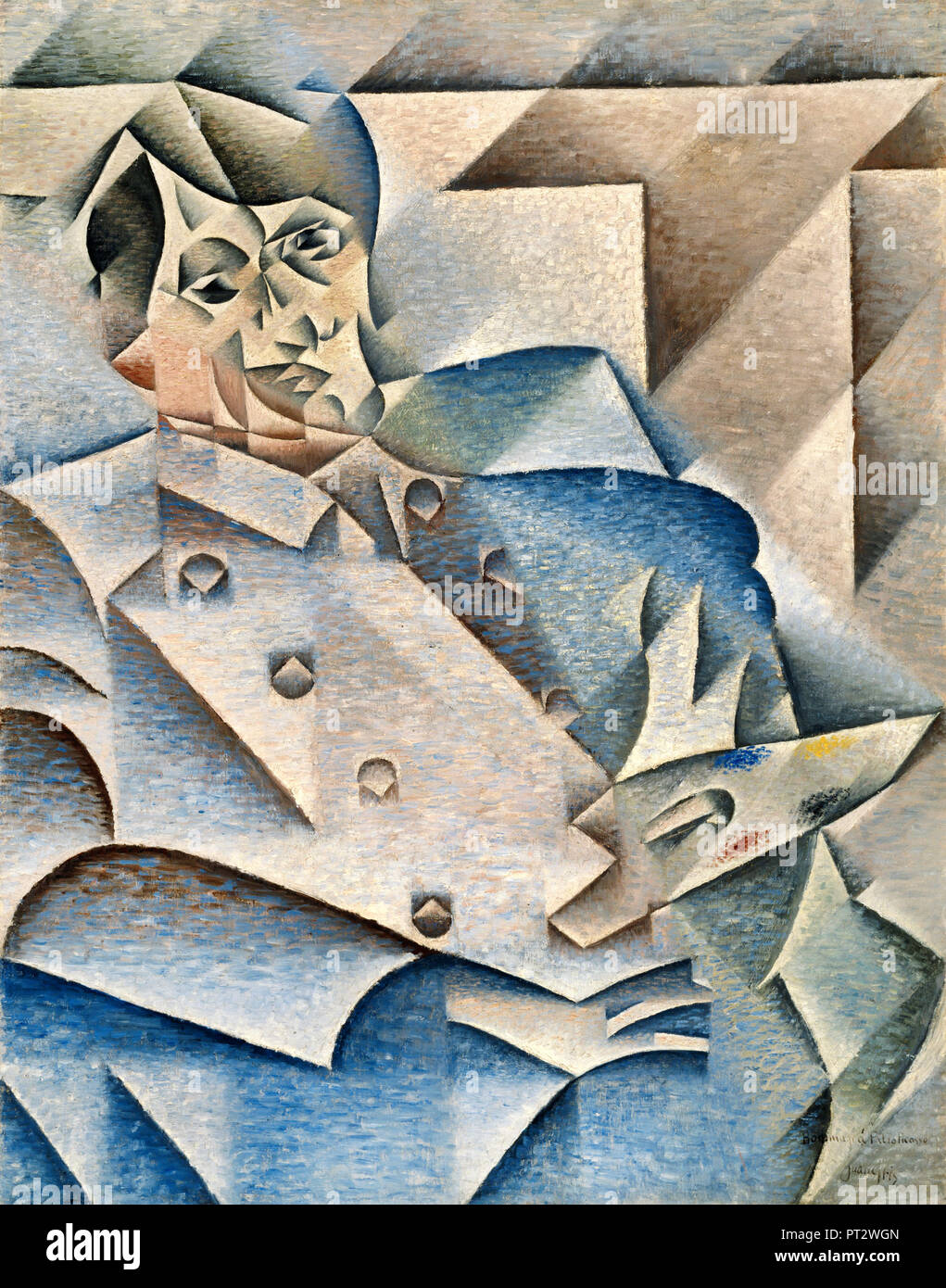 Juan Gris, Portrait of Pablo Picasso 1912 Oil on canvas, Art Institute of Chicago, USA. - Stock Image