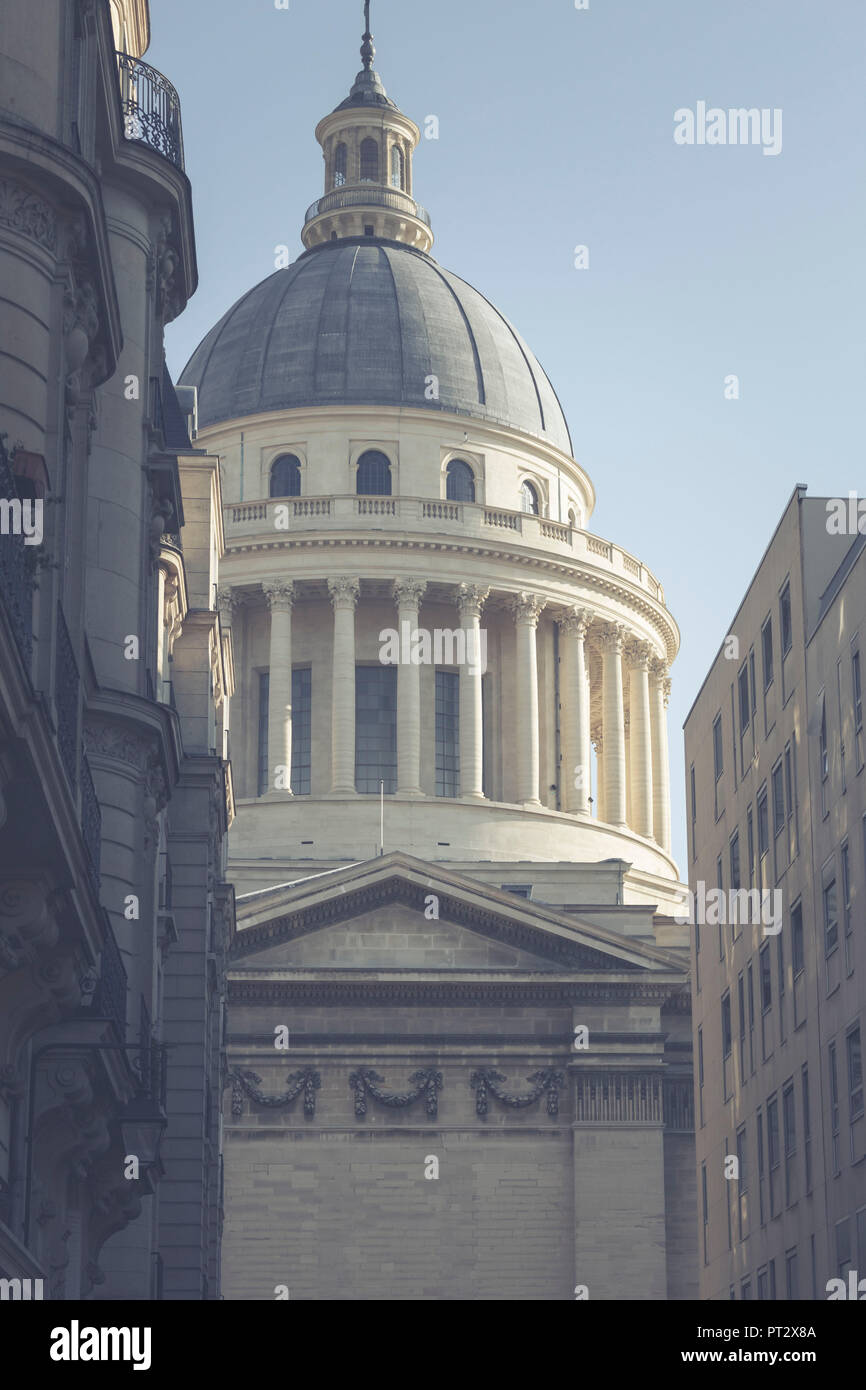 France Hall of Fame, the Pantheon in the 5th arrondissement in Paris, France, Europe, - Stock Image