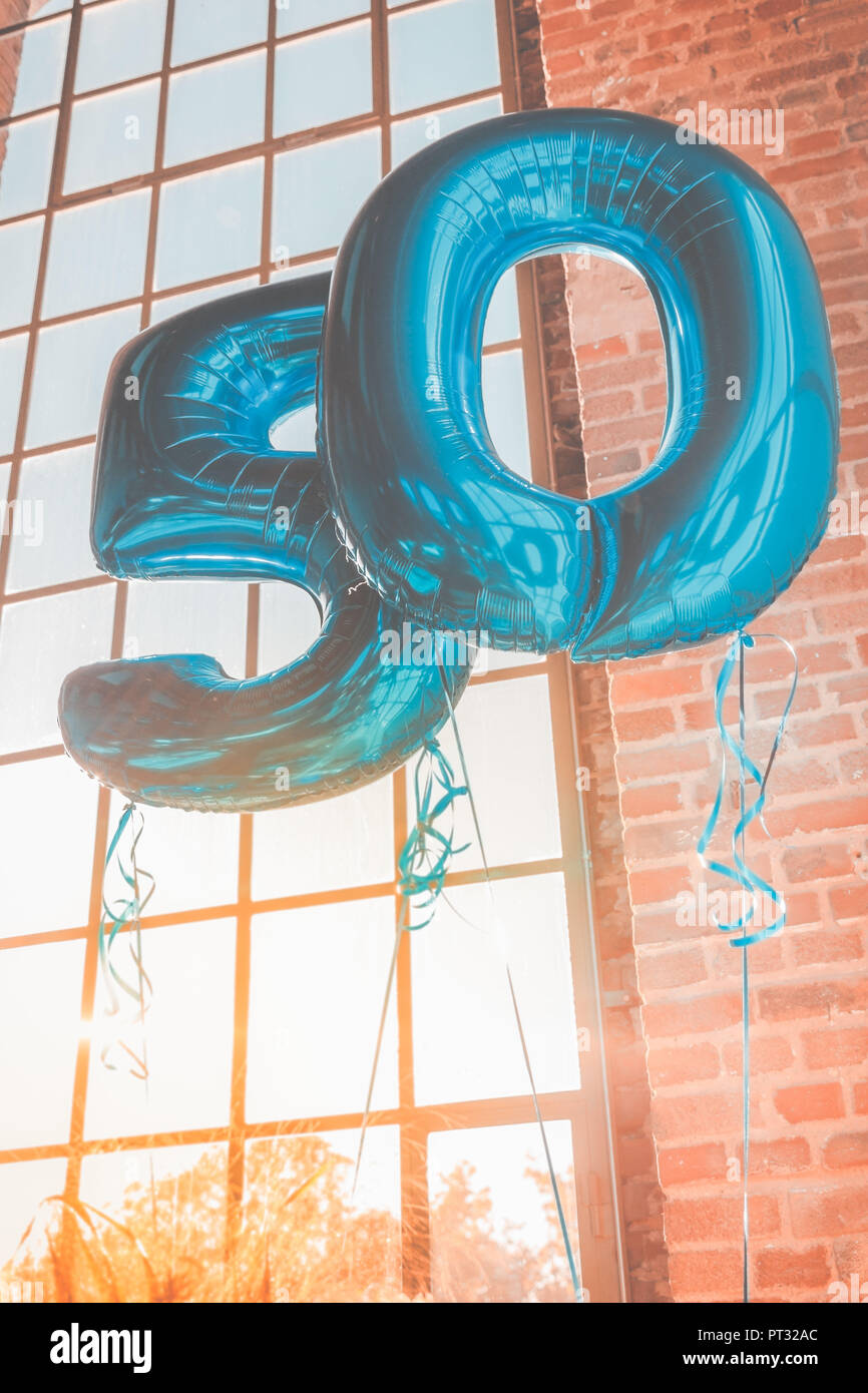 Balloon on fiftieth birthday - Stock Image