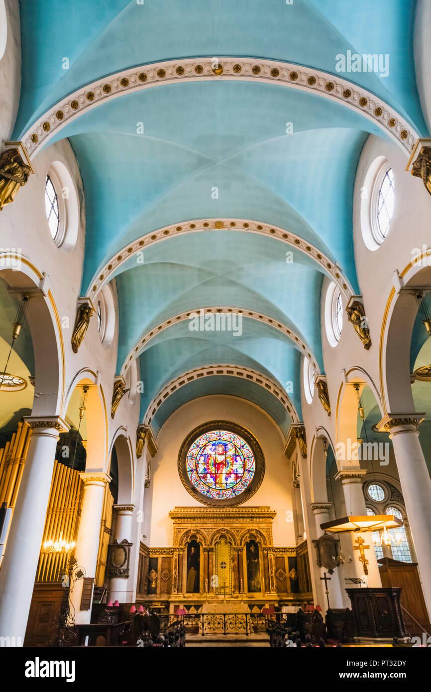 England, London, City of London, St.Michael Cornhill Church - Stock Image