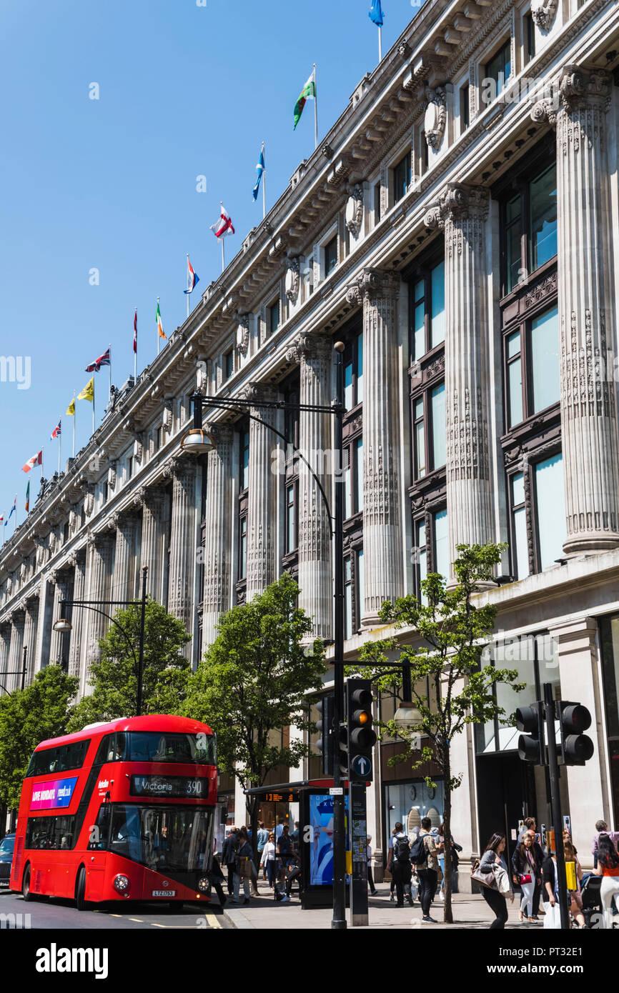 England, London, Oxford Street, Selfridges Department Store - Stock Image