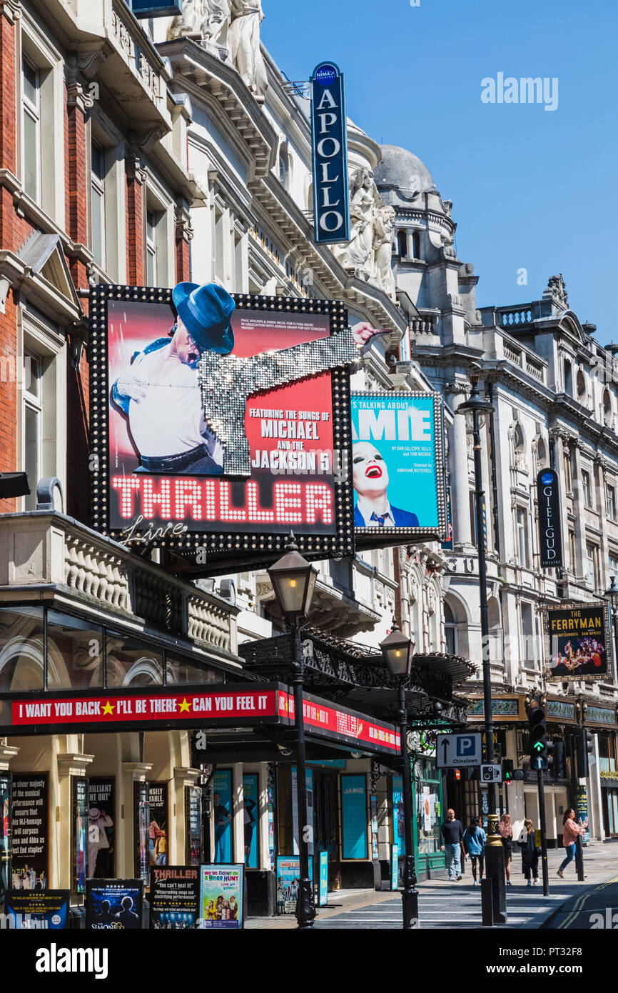 England, London, Shaftesbury Avenue, Theatres - Stock Image