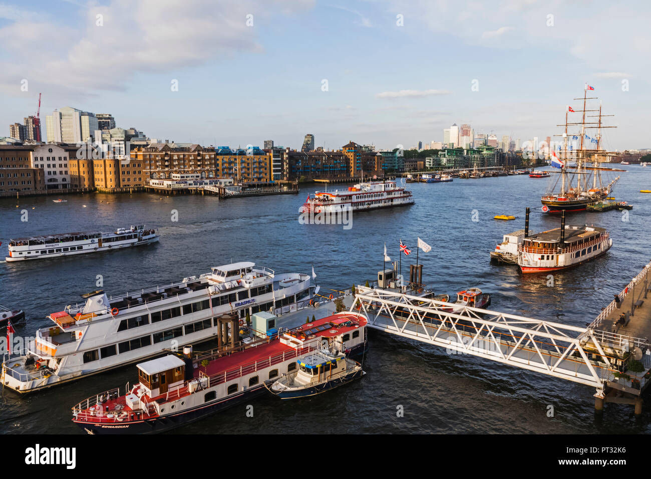 England, London, Docklands and River Thames - Stock Image