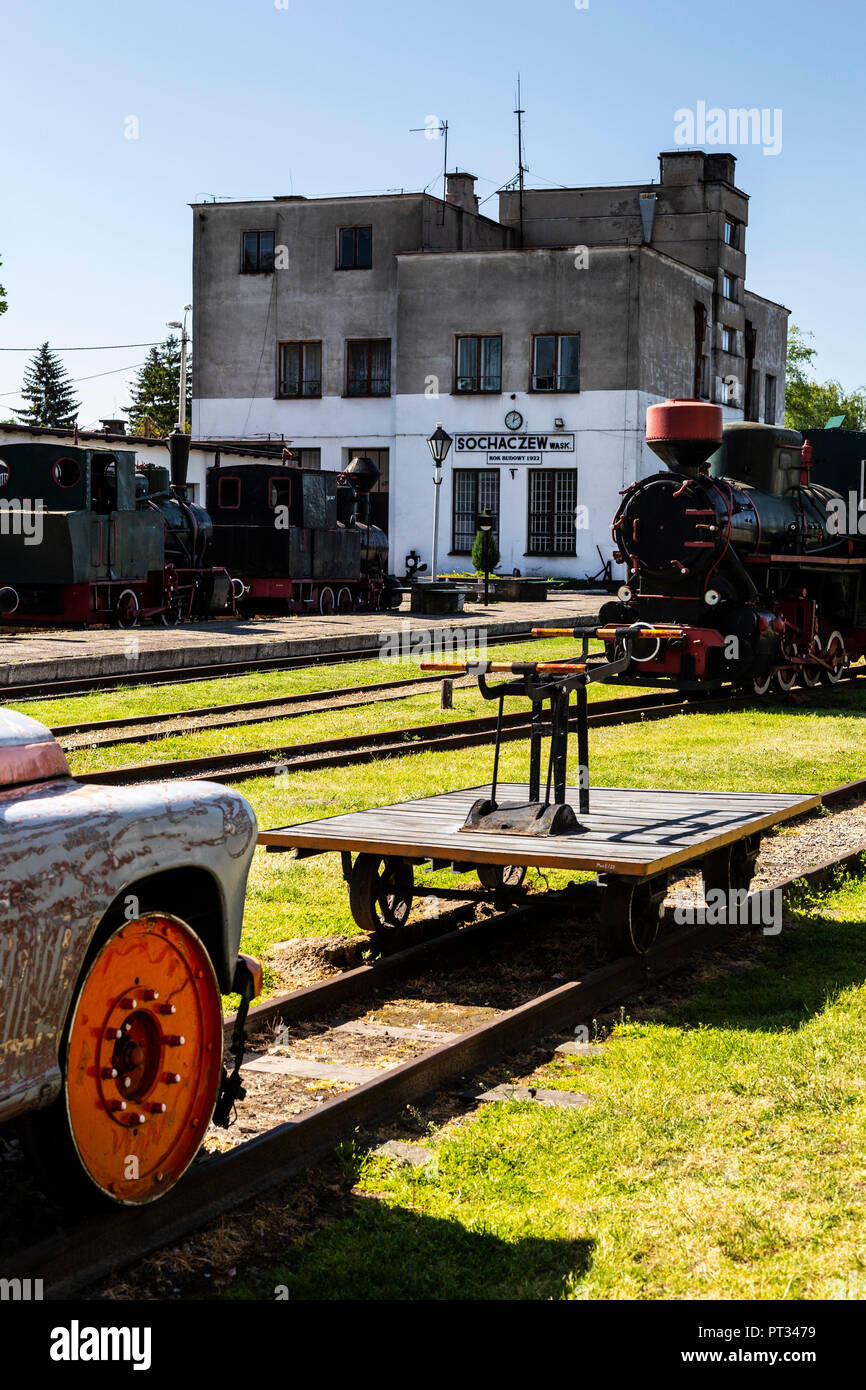 Europe, Poland, Voivodeship Masovian, The Narrow Gauge Railway Museum in Sochaczew - Stock Image