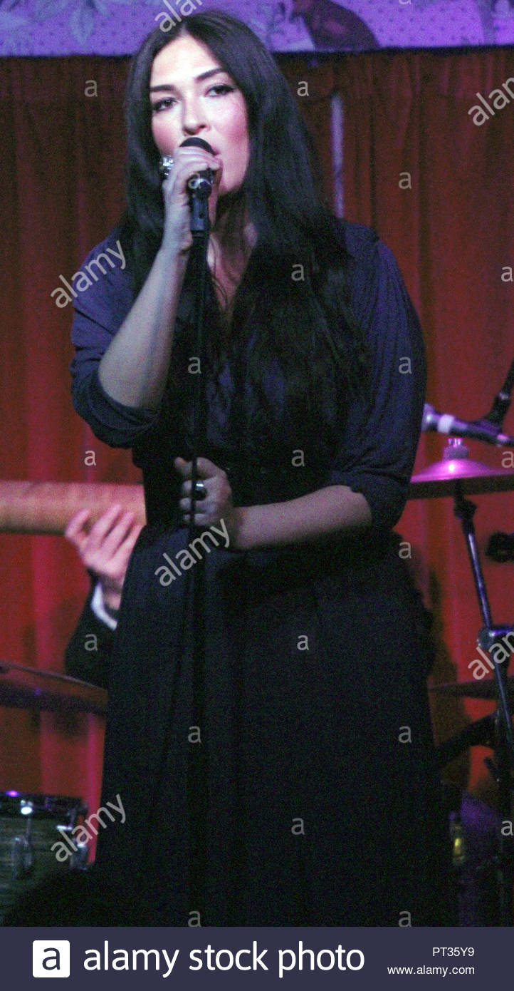 Kristina Train performs to a sold out crowd  at the Manchester Deaf Institute on Sunday 03 March 2013 Stock Photo