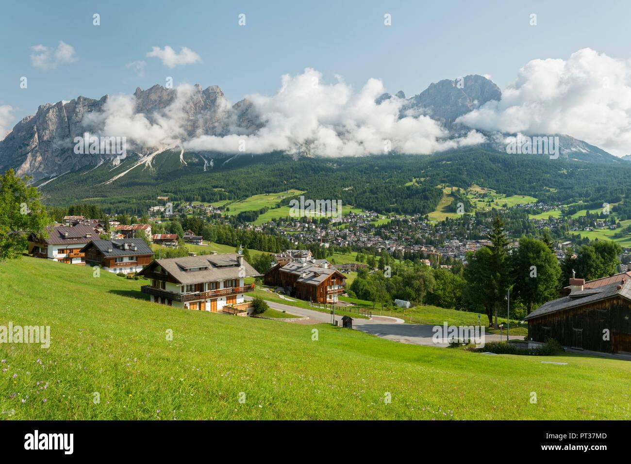 Cortina d'Ampezzo, Monte Cristallo, Veneto, Italy - Stock Image