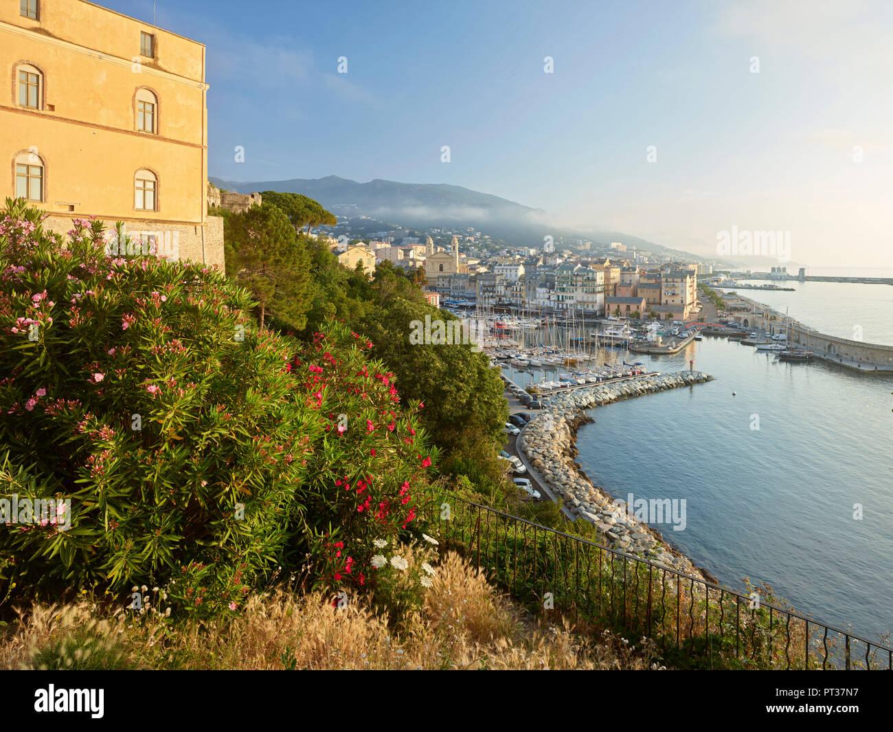 View of the port of Bastia, Haute Corse, Corsica, France - Stock Image