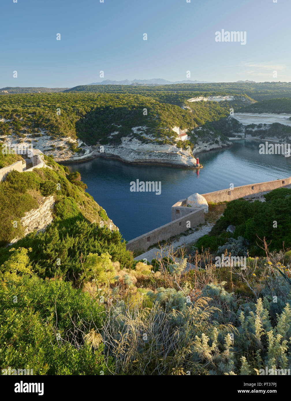 Bay of Bonifacio, Corse du Sud, Corsica, France - Stock Image