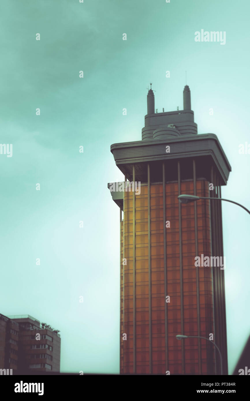 Torres de Colón, Colon towers in Madrid, Spain, office building and part of urban design - Stock Image