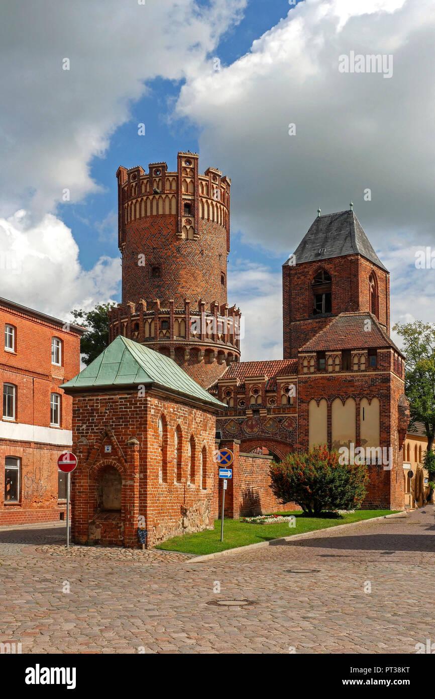 The gate of Neustadt in Tangermünde, Saxony-Anhalt, Germany - Stock Image