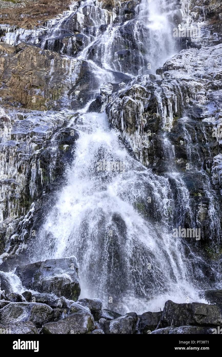 Todtnauer waterfall, Todtnau, Southern Black Forest, Baden-Wuerttemberg, Hochschwarzwald, Baden-Wuerttemberg, Germany - Stock Image