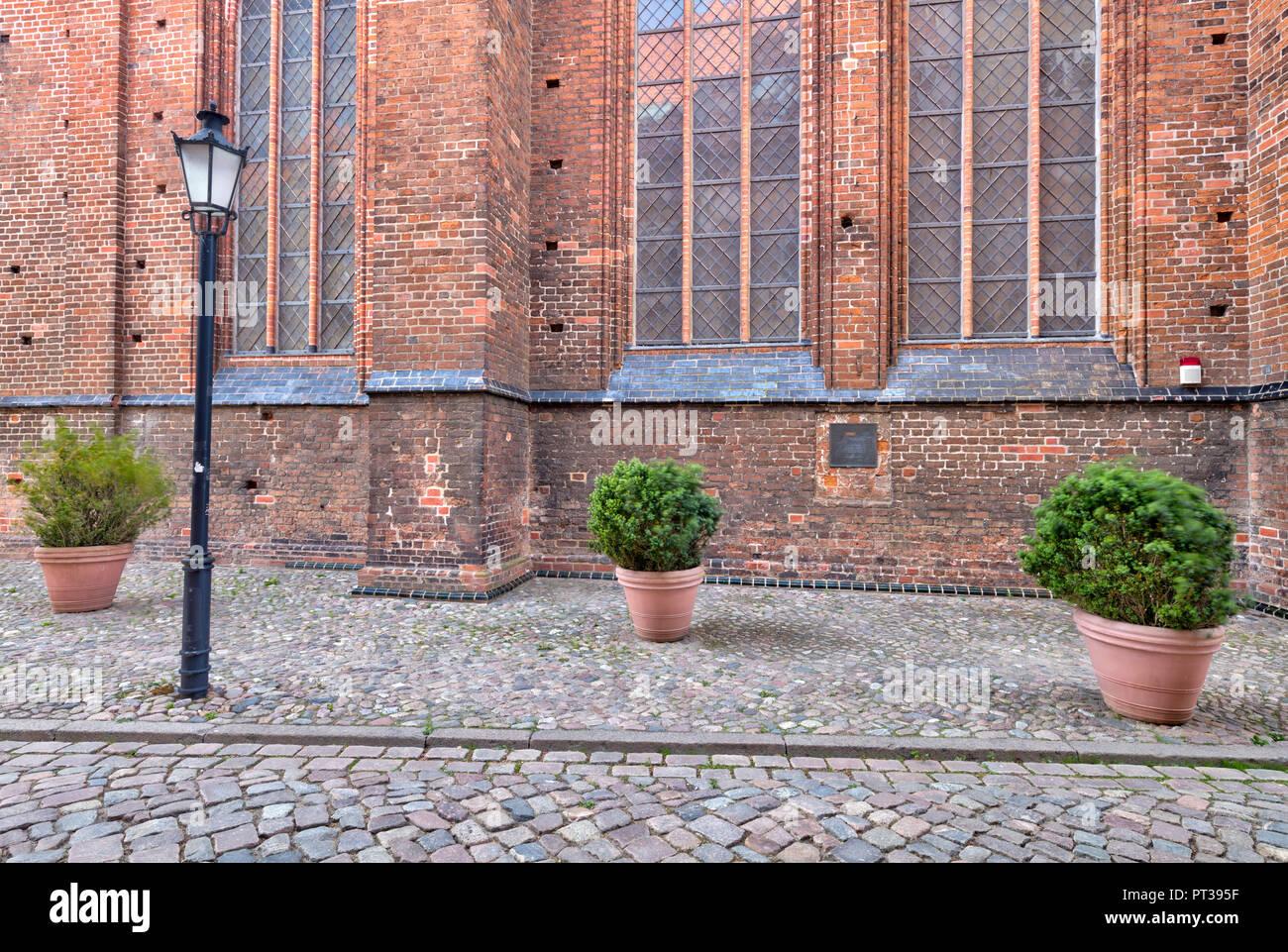 St. Georgen Church, Wismar, Baltic Sea coast, Mecklenburg-Vorpommern, Germany, Europe - Stock Image