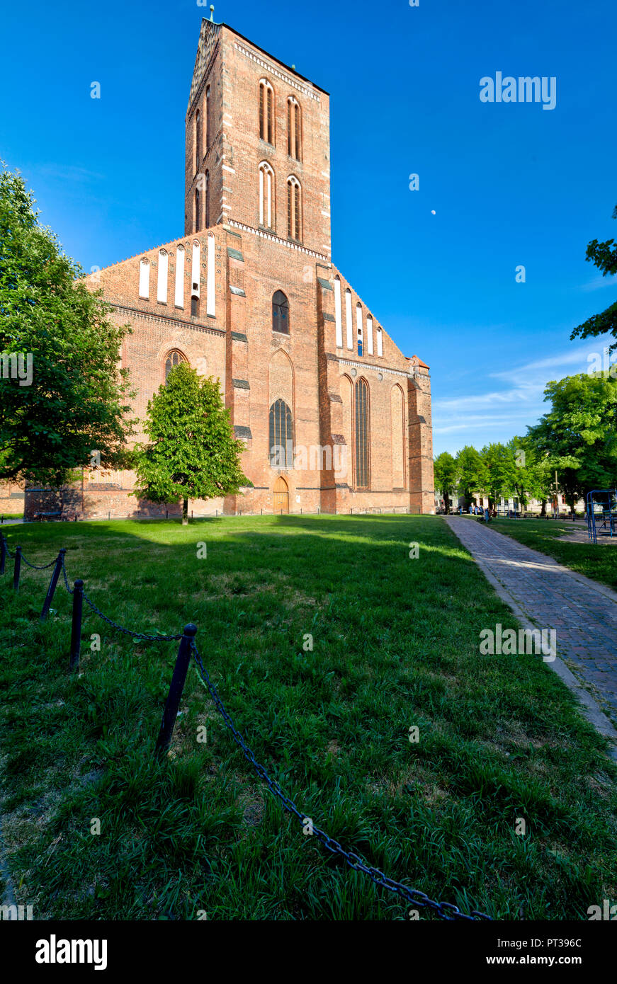 St. Nikolai church, Wismar, Baltic Sea coast, Mecklenburg-Vorpommern, Germany, Europe - Stock Image