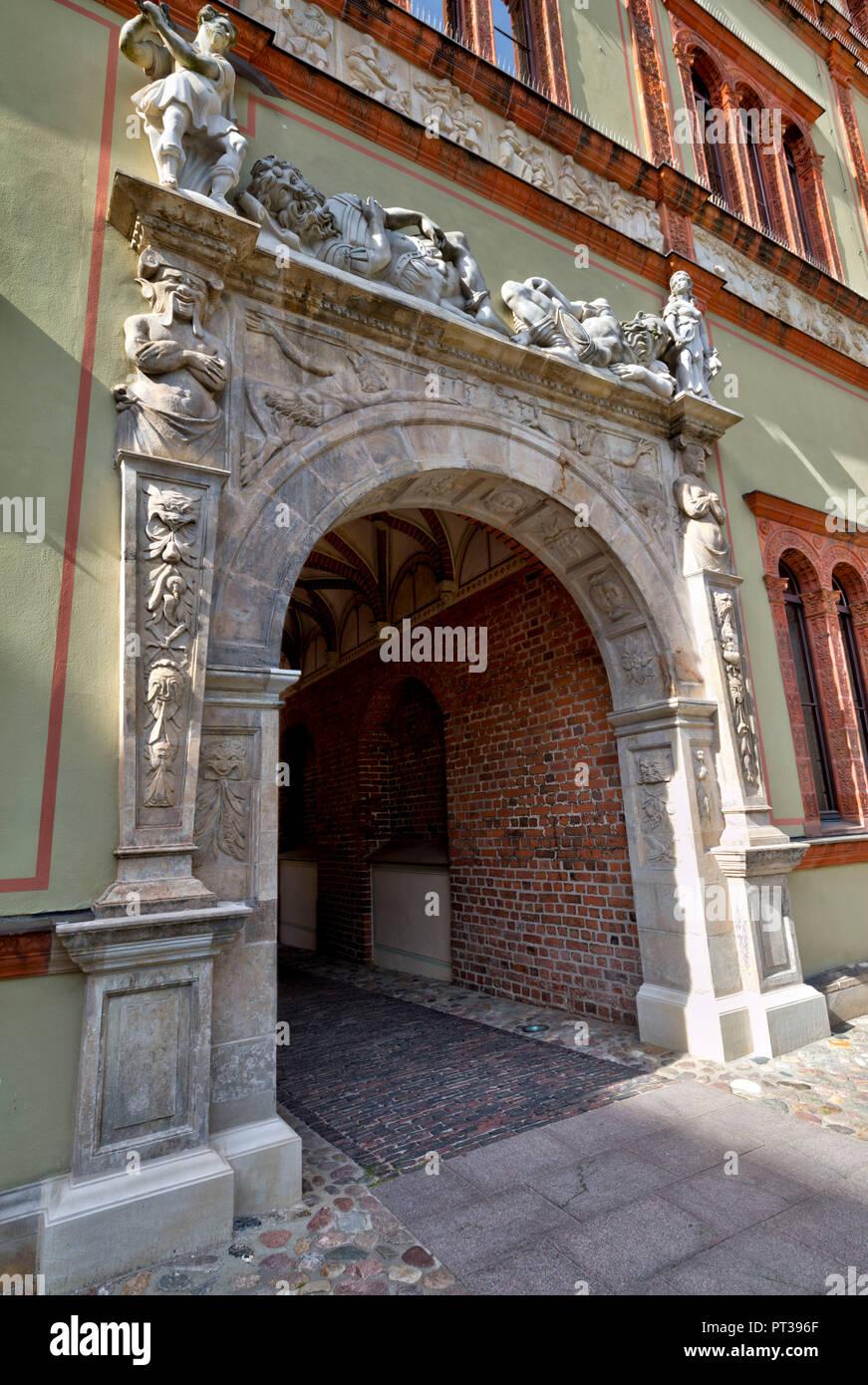 Fürstenhof, baroque architecture, Wismar, Baltic Sea Coast, Mecklenburg-Vorpommern, Germany, Europe - Stock Image